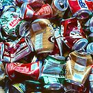 Aluminum Can Background by SteveOhlsen