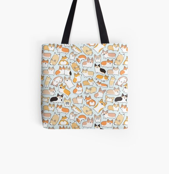 Corgilicious Corgi Doodle All Over Print Tote Bag