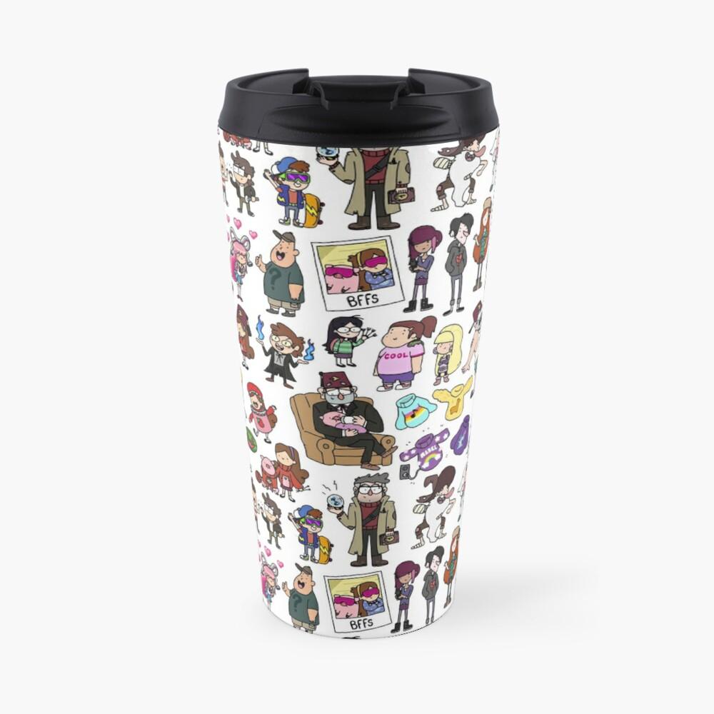 Cute Gravity Falls Doodle Travel Mug