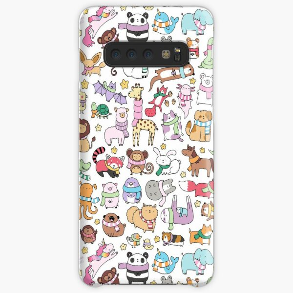 Winter Animals with Scarves Doodle Samsung Galaxy Snap Case
