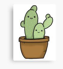 Smiley Cactus Canvas Print