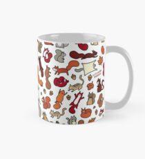 Squirrels in Fall Doodle Mug
