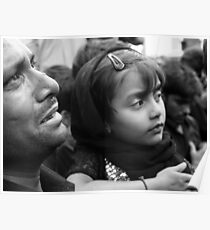 Girl and Father Hyderabad India Poster