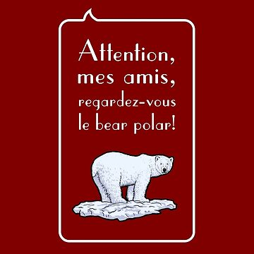 le bear polar speech bubble/transparent/red small by br0-harry