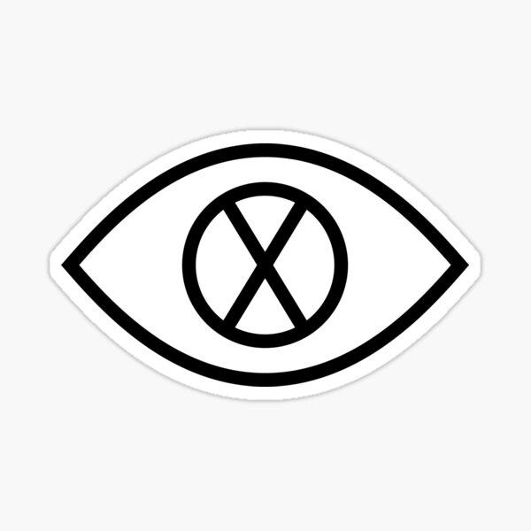 Eye X (in black) Sticker