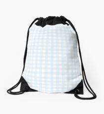 Gingham in the Summer Drawstring Bag