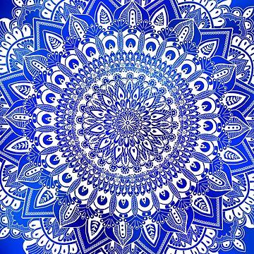 Blaue Mandala von miamulin57