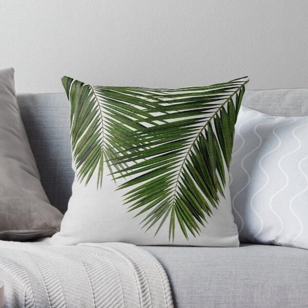 Palm leaf pillow, Luxe Linen Tropical pillow cover Green pillow Scott Brothers cushion accent pillow decorative throw pillow