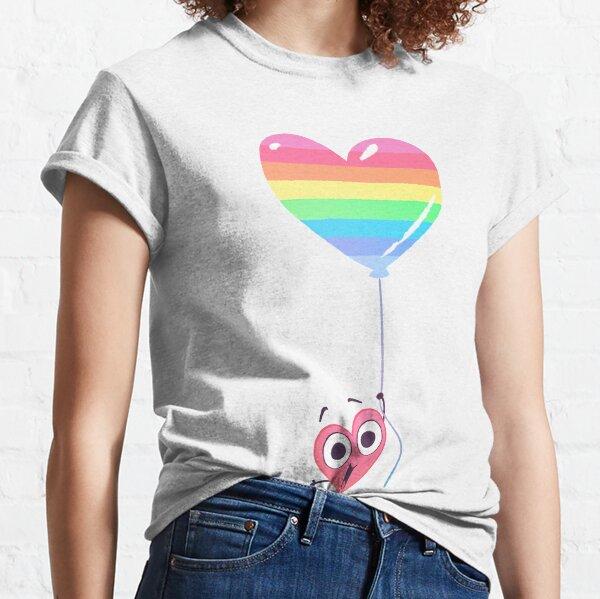 In a Heartbeat - Rainbow Heart Classic T-Shirt