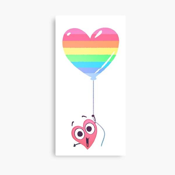 In a Heartbeat - Rainbow Heart Canvas Print