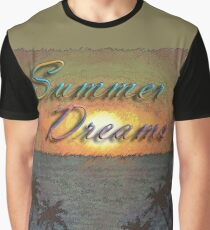 Summer Dreams Retro Surf Design   Graphic T-Shirt