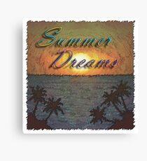Summer Dreams Retro Surf Design   Canvas Print