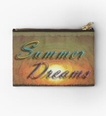 Summer Dreams Retro Surf Design   Studio Pouch