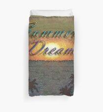 Summer Dreams Retro Surf Design   Duvet Cover