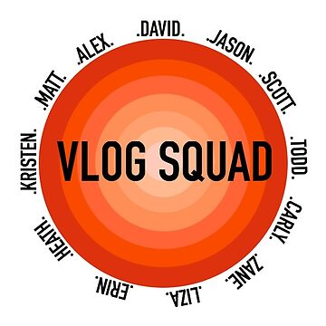 vlog squad circle- deep red by rubyoakley