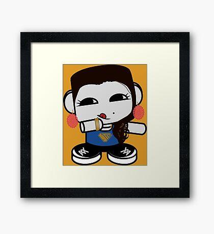 Naka Do O'BOT Toy Robot 3.0 Framed Art Print