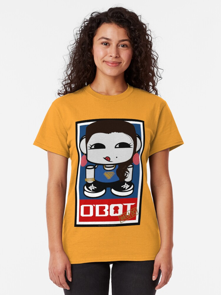 Alternate view of Naka Do O'BOT Toy Robot 2.0 Classic T-Shirt