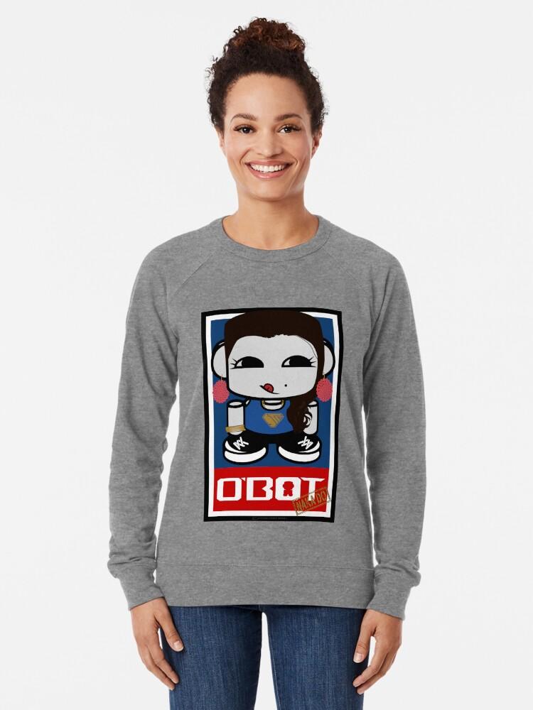 Alternate view of Naka Do O'BOT Toy Robot 2.0 Lightweight Sweatshirt
