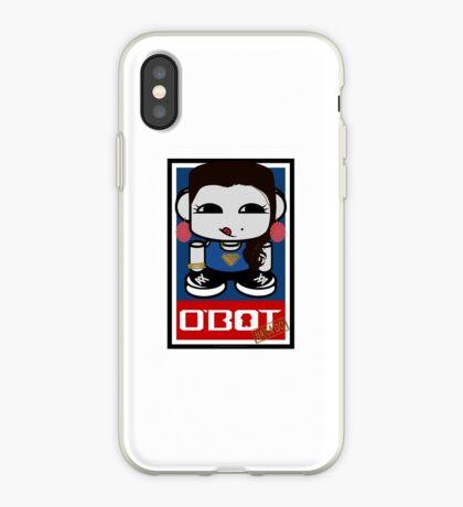 Naka Do O'BOT Toy Robot 2.0 iPhone Case