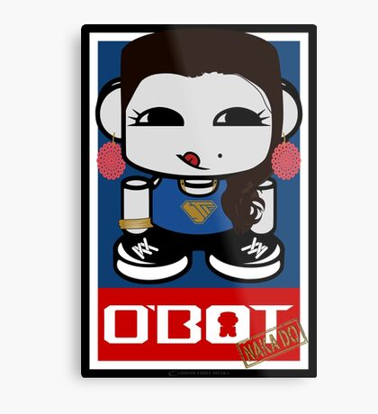 Naka Do O'BOT Toy Robot 2.0 Metal Print