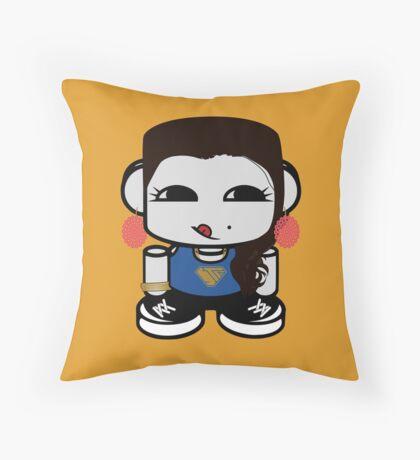 Naka Do O'BOT Toy Robot 1.0 Throw Pillow