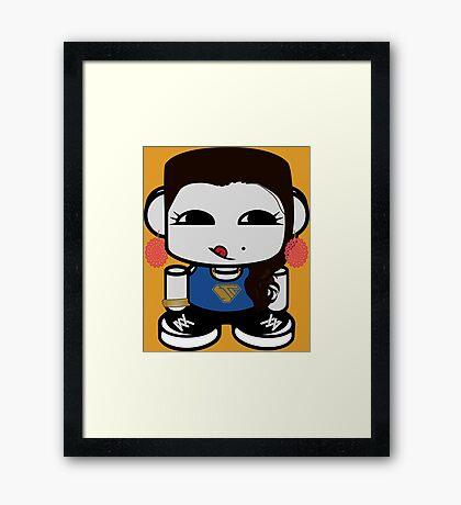 Naka Do O'BOT Toy Robot 1.0 Framed Art Print
