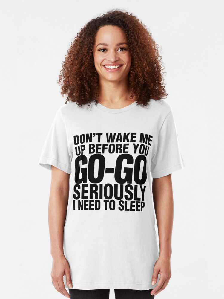 Alternate view of Choose Sleep Slim Fit T-Shirt