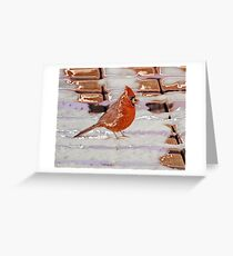 Red in the Snow Greeting Card
