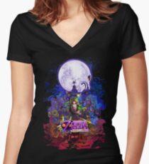 Majora's Mask 3D  Women's Fitted V-Neck T-Shirt