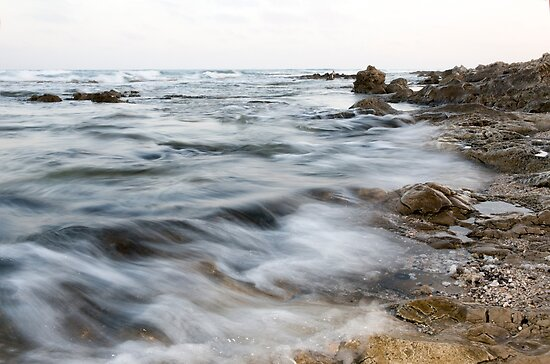 Rocks and sand on the seabed photographed in Israel  by PhotoStock-Isra