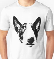 English Bull Terrier Face Unisex T-Shirt