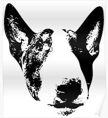 English Bull Terrier Face Poster