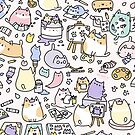 «¡Gatos de Artsy!» de KiraKiraDoodles