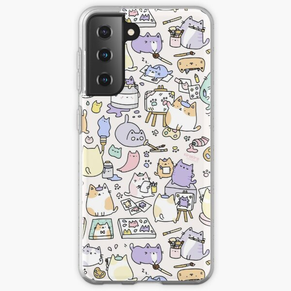 Artsy Cats!  Samsung Galaxy Soft Case