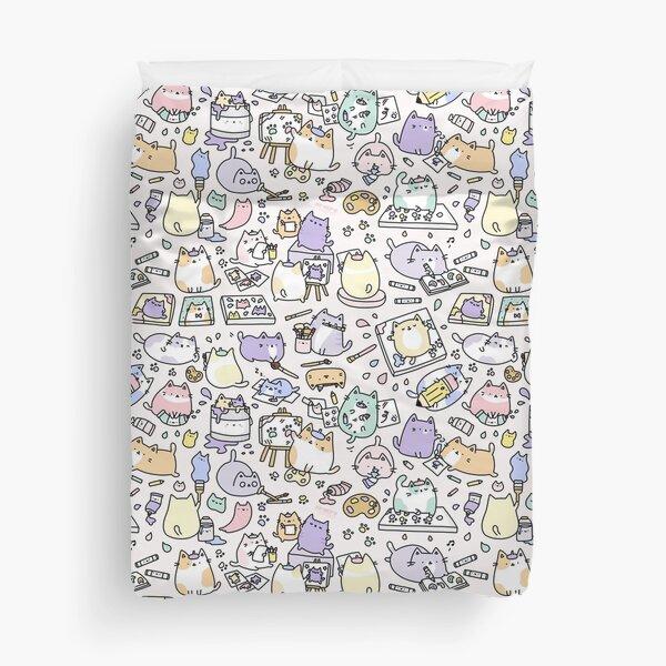 Artsy Cats!  Duvet Cover