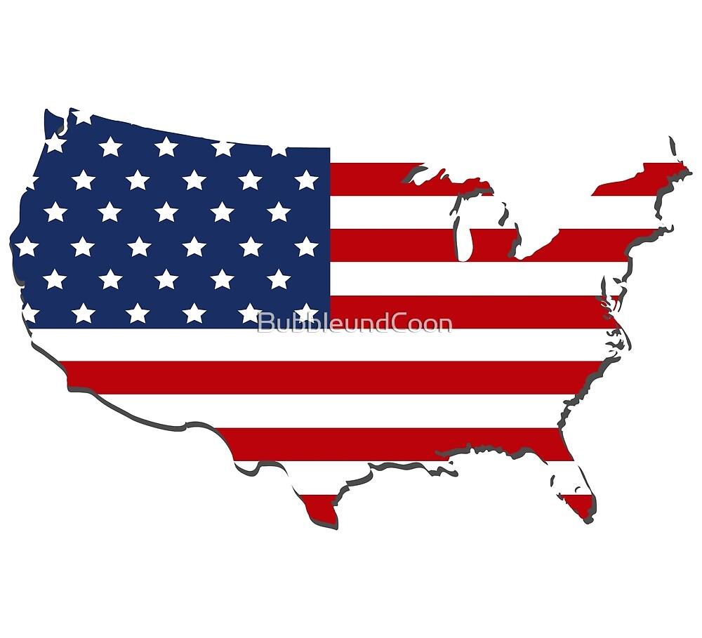 Karte USA von Stefanie Keller
