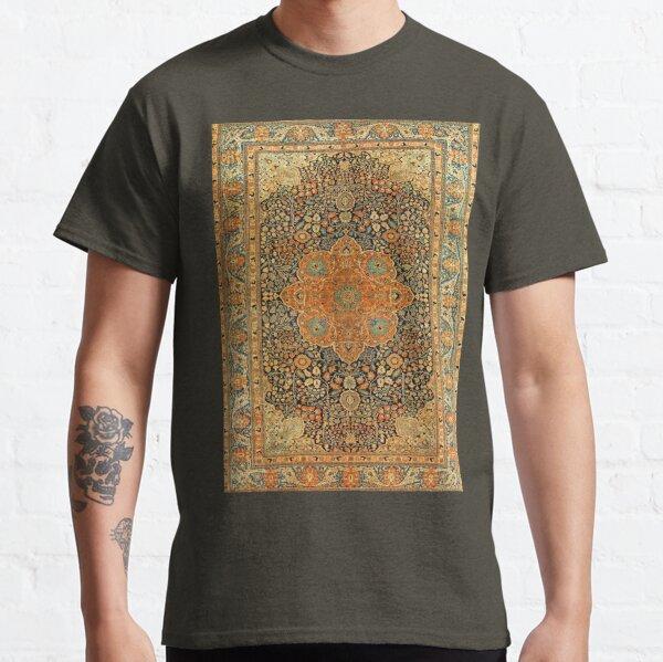 Antique Mohtashem Kashan Persian Rug Print Classic T-Shirt