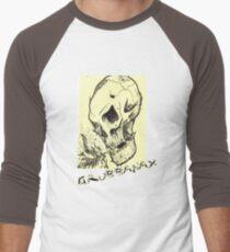 Grubbanax - Fire Skull Men's Baseball ¾ T-Shirt