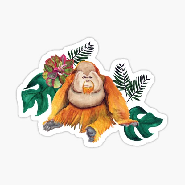 Forest Of Orangutans Sticker