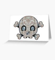 Damask Skull Greeting Card