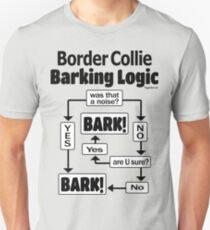 Border Collie Barking Logic Unisex T-Shirt