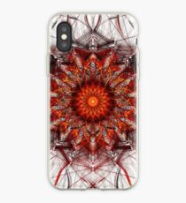 Scorching Sun - Abstract Fractal Artwork iPhone Case