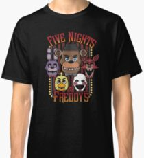 Five Nights At Freddy's Pizzeria Multi-Character Classic T-Shirt