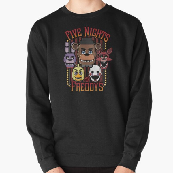Five Nights At Freddy's Pizzeria Multi-Character Pullover Sweatshirt