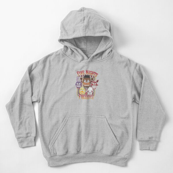 Five Nights At Freddy's Pizzeria Multi-Character Kids Pullover Hoodie