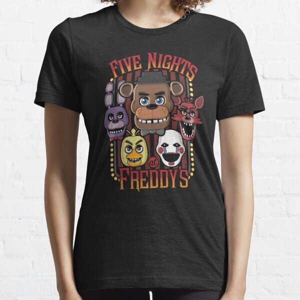 Five Nights At Freddy's Pizzeria Multi-Character Essential T-Shirt
