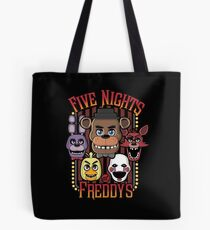 Five Nights At Freddy's Pizzeria Multi-Character Tote Bag
