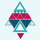 a few triangles making a pattern by Gabrielle Agius