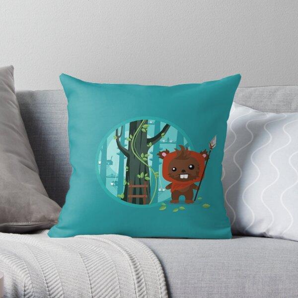Cute little furry Bear Throw Pillow