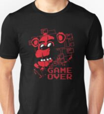 Five Nights At Freddy's Pizzeria Game Over Slim Fit T-Shirt